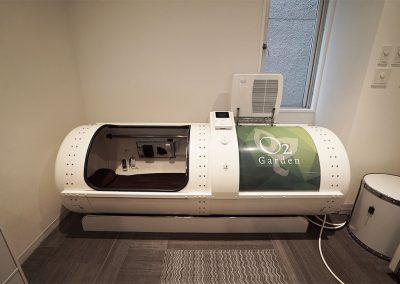 スポーツ施設を併設しておりますので、酸素カプセル1基スタンバイOK※有料となります