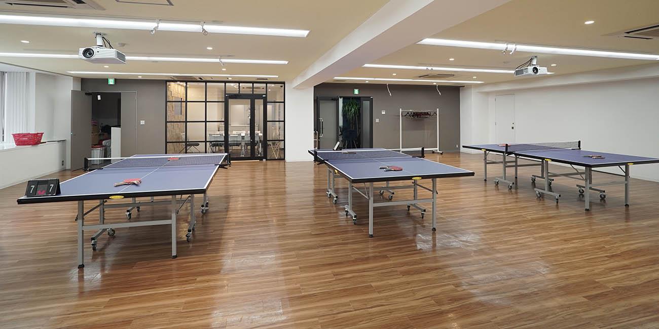 大会議室&スタジオー卓球台 |スペースパートナー