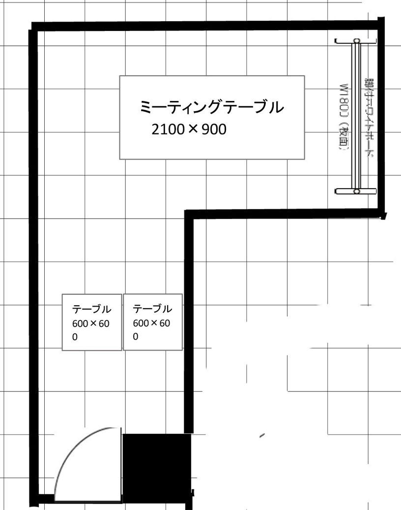 小会議室図面|スペースパートナー